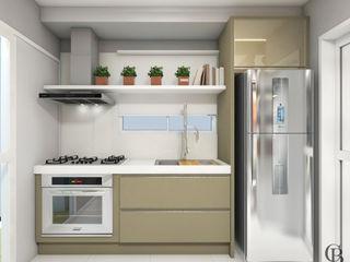 Caroline Berto Arquitetura Modern Kitchen MDF Beige