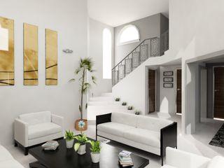 OLLIN ARQUITECTURA Living roomAccessories & decoration Wood-Plastic Composite Grey