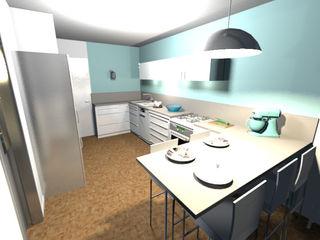Rénovation complète d'une cuisine Scènes d'Intérieur Éléments de cuisine Vert