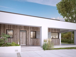 FHS Casas Prefabricadas Scandinavian style office buildings Iron/Steel Multicolored