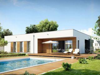FHS Casas Prefabricadas Modern living room Quartz Multicolored