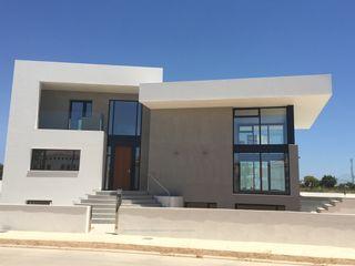 TI DYOV STUDIO Arquitectura. Concepto Passivhaus Mediterráneo. 653773806 Casas de estilo moderno Blanco