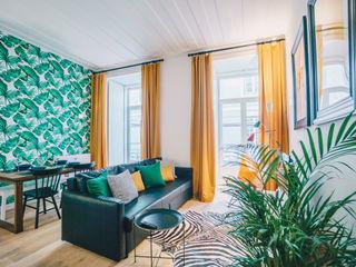YS PROJECT DESIGN WohnzimmerSofas und Sessel Textil Grün