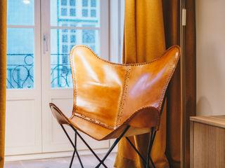 YS PROJECT DESIGN Ausgefallene Wohnzimmer Bernstein/Gold