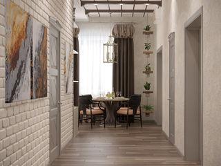 Студия интерьерного дизайна happy.design Country style corridor, hallway& stairs
