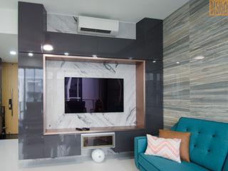 Barley Ridge Penthouse Project Designer House Living room Copper/Bronze/Brass Grey