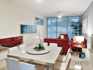 PORTO Arquitectura + Diseño de Interiores Ruang Makan Modern