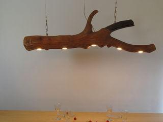 Over the table Lamp made of oak wood Meble Autorskie Jurkowski Living roomLighting Iron/Steel Wood effect