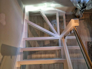 Escalera Madera / Cristal Carpinteria Eguren SL HogarArtículos del hogar