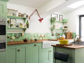 The Khoollect Kitchen by deVOL deVOL Kitchens Кухня Дерево Зелений