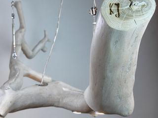 Over the table Lamp made of oak wood Meble Autorskie Jurkowski Living roomLighting Wood White