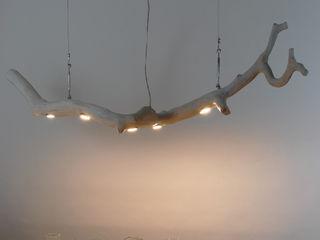 Over the table Lamp made of oak wood Meble Autorskie Jurkowski Dining roomLighting Wood White