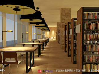 NTUS Library大學圖書館設計案 - 京悅設計 京悅室內裝修設計工程(有)公司 真水空間建築設計居研所 客廳 水泥 Black