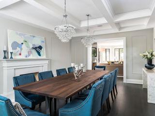 Frahm Interiors Modern Dining Room Grey