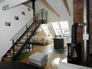 schüller.innenarchitektur غرفة المعيشة الحديد / الصلب White