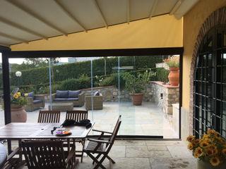Pergola in Alluminio con vetrate panoramiche Svitavvita Snc Giardino d'inverno in stile classico Alluminio / Zinco Marrone