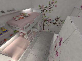 Aida tropeano& Asociados Kız çocuk yatak odası İşlenmiş Ahşap Beyaz