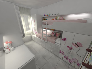 Aida tropeano& Asociados Minimalist Çocuk Odası İşlenmiş Ahşap Beyaz