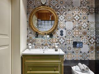 Ольга Райская Industrial style bathroom Tiles Multicolored