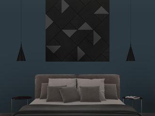 PanelPanel DormitoriosAccesorios y decoración Contrachapado Negro