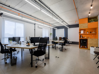 Macro Arquitetos Modern Study Room and Home Office