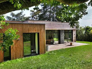 EC-Bois   Maison Aubry   Montfort l'Amaury EC-BOIS Maisons modernes Bois d'ingénierie Effet bois