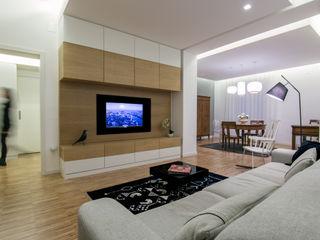 DomECO Modern living room Wood White