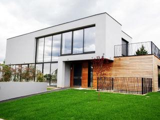 EC-Bois   Villa Carré   Bussy-Saint-Georges EC-BOIS Chalets & maisons en bois Bois d'ingénierie Blanc