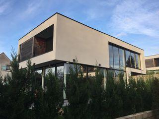 EC-Bois   Villa Carré   Bussy-Saint-Georges EC-BOIS Maisons modernes Bois d'ingénierie Blanc