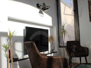 ABC Design d'Espace Salones de estilo industrial