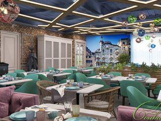 Компания архитекторов Латышевых 'Мечты сбываются' Salas de jantar ecléticas