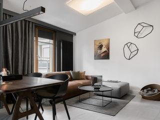 formativ. indywidualne projekty wnętrz Salas de estilo moderno Negro
