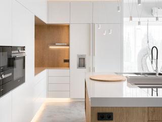 formativ. indywidualne projekty wnętrz Cocinas de estilo moderno Blanco