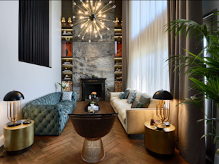 ABA HOUSE Esra Kazmirci Mimarlik Modern living room Marble Green