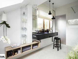 AFormA Architektura wnętrz Anna Fodemska Modern bathroom White