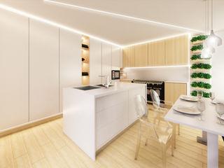 MIA arquitetos Кухня MDF Дерев'яні