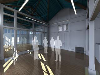 Pedro de Almeida Carvalho, Arquitecto, Lda Classic style corridor, hallway and stairs Solid Wood White
