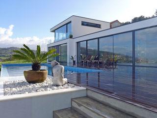 AD+ arquitectura Piscines à débordement Marbre Blanc