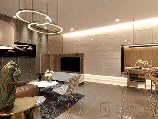Công Ty TNHH Archifix Design モダンデザインの リビング