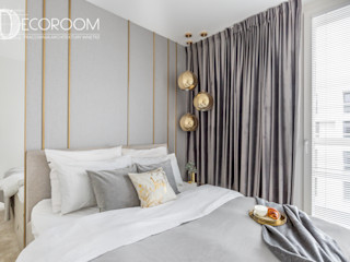 Pracownia Architektury Wnętrz Decoroom Chambre moderne Gris