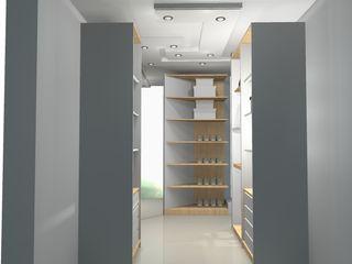 espacios soñados Francis estilo Closets de estilo clásico Blanco