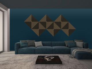 PanelPanel DormitoriosAccesorios y decoración Contrachapado Marrón