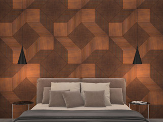 PanelPanel Dormitorios de estilo moderno Contrachapado Marrón