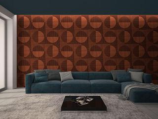 PanelPanel Salones de estilo moderno Contrachapado Marrón