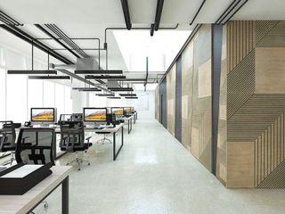 PanelPanel Estudios y despachos de estilo moderno Contrachapado Marrón
