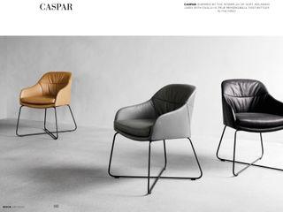 Stuhl CASPAR designed by Sven Dogs for WON Design sven dogs WohnzimmerHocker und Stühle Leder Schwarz