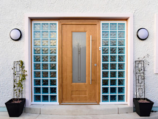 Scarth Craig, Cowie, Stonehaven, Aberdeenshire Roundhouse Architecture Ltd Front doors Wood Brown