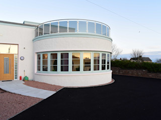 Scarth Craig, Cowie, Stonehaven, Aberdeenshire Roundhouse Architecture Ltd Eclectic style houses Glass White