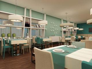 ShiStudio Interior Design Modern dining room White