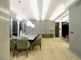 NIVEL TRES ARQUITECTURA Modern dining room Stone Grey